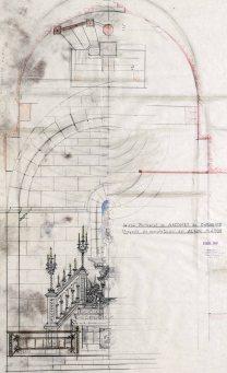 Projecte per complementar l'altar major de l'església de Sant Martí, a Maçanet de Cabrenys, 1946