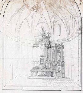 Projecte d'altar major de l'església de Sant Salvador, a Castellfollit de la Roca, 1945