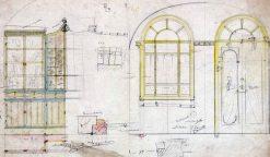 Proposta d'elements de fusteria i decoració de la casa Blanch, a Argelaguer, 1914