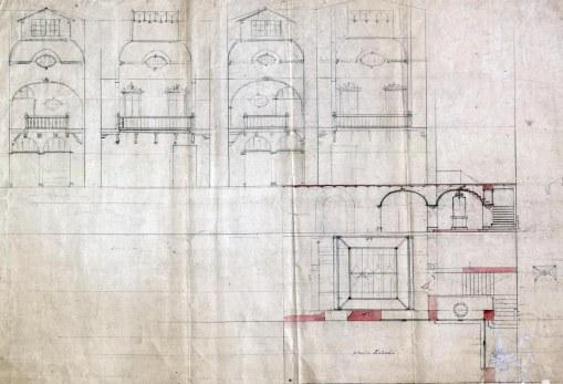 Projecte de reforma d'una casa sense identificar, a Barcelona, entre els anys 1909 i 1912