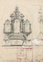 Projecte de l'altar de Sant Josep de l'església de Sant Salvador, a Castellfollit de la Roca, 1945
