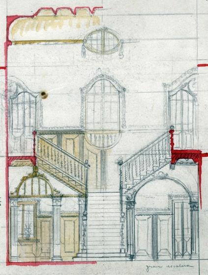Projecte de reforma d'una casa sense identificar a Barcelona, entre els anys 1909 i 1912