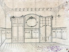 Projecte decoratiu d'una casa sense identificar, a Barcelona, entre 1908 i 1912