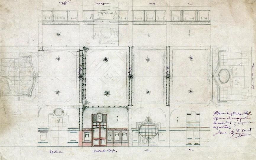 Projecte decoratiu d'una casa sense identificar a Barcelona, entre 1908 i 1912