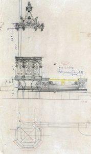 Projecte de trona de l'església de Sant Salvador, a Castellfollit de la Roca, 1949