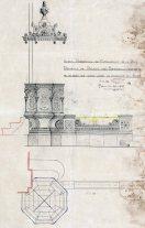 Projecte de trona de l'església de Sant Salvador a Castellfollit de la Roca, 1949