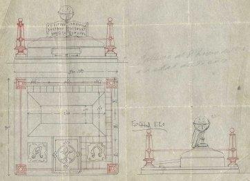 Projecte de reforma del panteó Esteva, c. 1919
