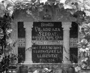 Làpida de la família Vilarrasa Serrat, 1936 (ACGAX. Fons: Sadurní Brunet Pi. Autor: Sadurní Brunet)