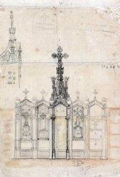 Projecte de decoració escultòrica de la tomba de Salvador Coderch, 1926