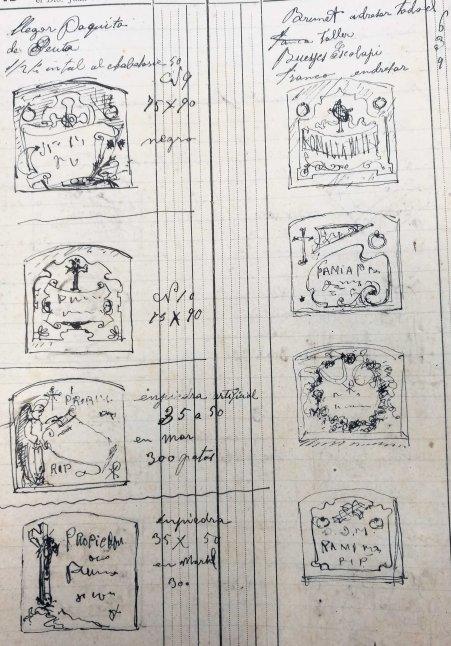Esbossos de làpides, 18.1.1919 (ACGAX. Fons: Sadurní Brunet Pi. Dietaris)