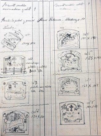 Esbossos de làpides, 19.1.1919 (ACGAX. Fons: Sadurní Brunet Pi. Dietaris)