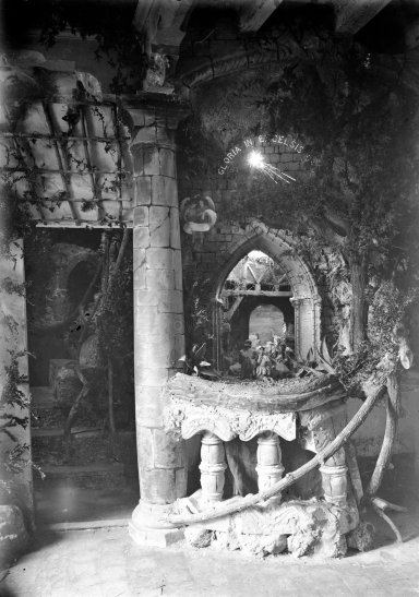 Pessebre de Sadurní Brunet guardonat amb el primer premi en el concurs de l'any 1916 (ACGAX. Fons Sadurní Brunet Pi. Autor: Sadurní Brunet)