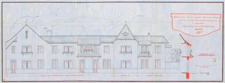 Plànol de la casa Pagès, 1928 (ACGAX. Fons Ajuntament d'Olot. Expedient de llicència d'obres)
