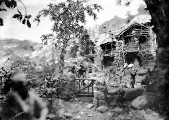 Pessebre fet per Sadurní Brunet, c. 1929 (ACGAX. Fons Sadurní Brunet Pi. Autor: Sadurní Brunet)
