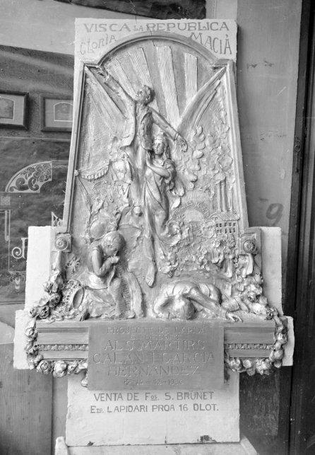 Projecte de làpida commemorativa en record dels militars Fermín Galán i Ángel García Hernández, 1930 (ACGAX. Fons Sadurní Brunet Pi. Autor: Sadurní Brunet)