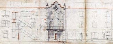 Projecte de reforma d'una casa sense identificar, entre els anys 1910 i 1921