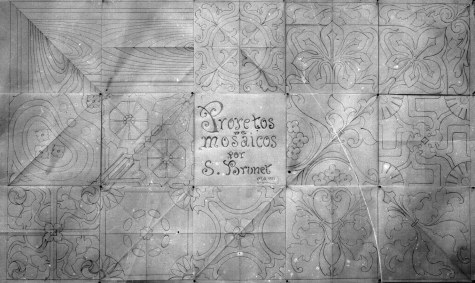 Projecte de mosaics, 1915