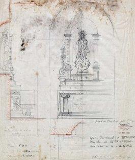 Projecte de l'altar de la Puríssima de l'església de Sant Mamet, a Riumors, 1948