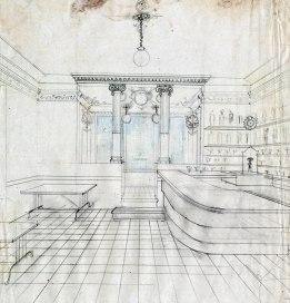 Projecte de reforma del bar Can Grau, a Verges, 1945
