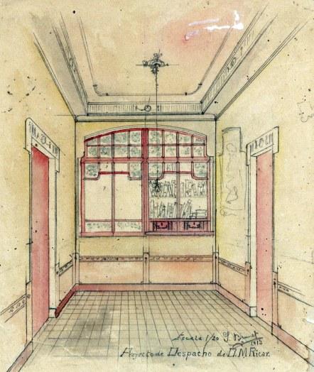 Projecte del despatx de la casa Ricart, 1913