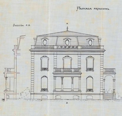 Plànol de la casa Juncosa, 1919 (ACGAX. Fons Ajuntament d'Olot. Expedient de llicència d'obres)