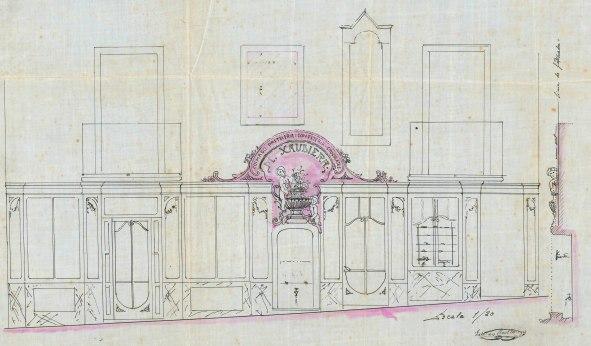 Plànol de l'expedient de llicència d'obres,1922 (ACGAX. Fons Ajuntament d'Olot. Expedient de llicència d'obres)