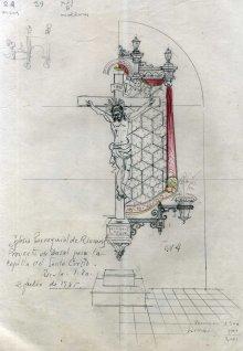 Projecte de capella del Sant Crist de Sant Mamet, a Riumors, 1948