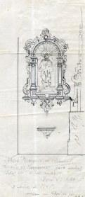 Projecte de fornícules de l'altar major de l'església de Sant Mamet, a Riumors, 1948