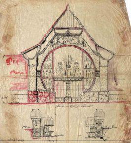 Projecte de quiosc de begudes del camp de futbol de la Unió Esportiva Olot, 1928