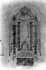 Reproducció del projecte de l'altar major de l'església de Sant Maurici, a Sant Mori, 1946 (ACGAX. Fons Sadurní Brunet Pi. Autor: Sadurní Brunet)
