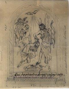 Projecte per decorar el baptisteri de l'església de Sant Joan, a Palau-saverdera, 1944