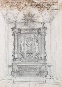 Projecte de l'altar del Roser de l'església de Santa Maria de Sales, a la Cellera de Ter, 1947