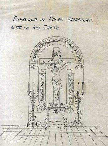 Projecte de l'altar del Sant Crist de l'església de Sant Joan, a Palau-saverdera, 1944