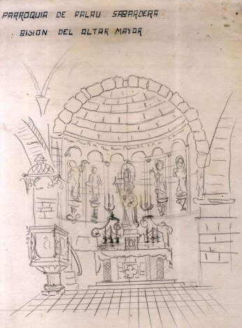 Projecte de l'altar major de l'església de Sant Joan, a Palau-saverdera, 1944