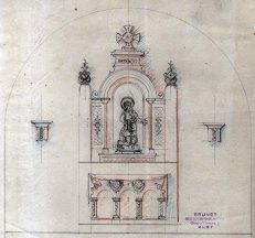 Projecte de l'altar de l'ermita de Sant Onofre, a Palau-saverdera, 1943