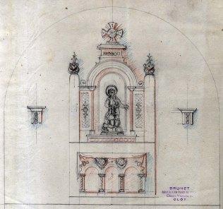 Projecte de l'altar de l'ermita de Sant Onofre, a Palau-saverdera, 1944