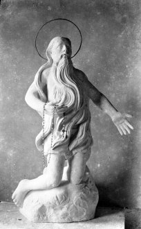 Figura de Sant Onofre, abans de ser repintada, 1944 (ACGAX. Fons Sadurní Brunet Pi. Autor: Sadurní Brunet)