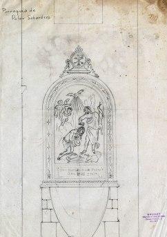Projecte de baptisteri de l'església de Sant Joan, a Palau-saverdera, 1944